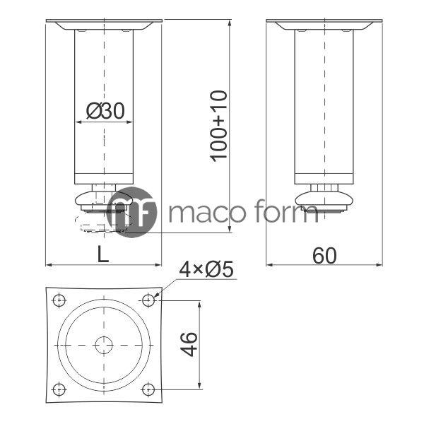 nogica-H100-fi30-aluminijum-tehnicki-podaci