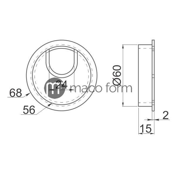 rozetna-metalna-Ø60-aluminijum-tehnicki-podaci