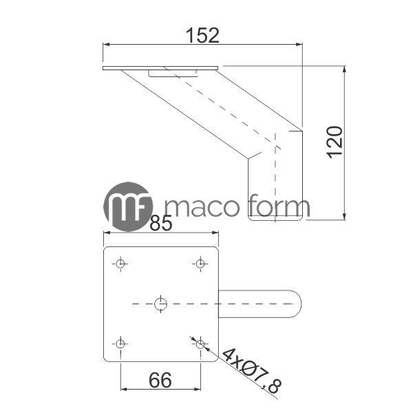 Nogica-STOMP-H120-85×85-crna-tehnicki-podaci