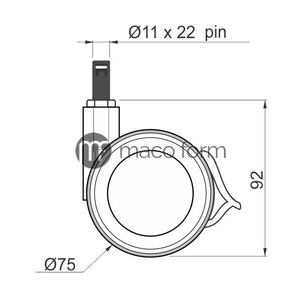 Koev-fi75-kocnica-pin-tehnicki-podaci