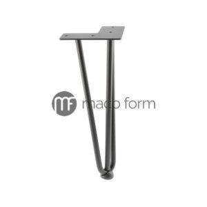 Noga ARTO crna, visina 304 mm, 3 šipke