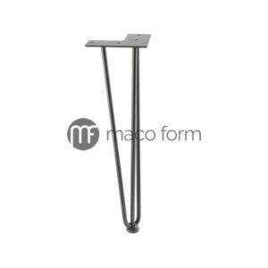 Noga ARTO crna, visina 406 mm, 3 šipke