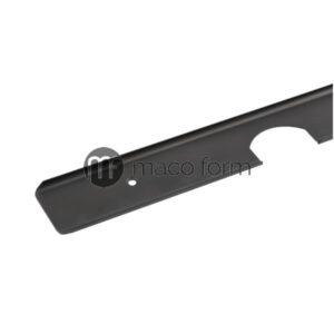lajsna za radnu plocu, 600mm, crna, ugao